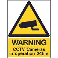 CCTV Warning Signs in 3mm Rigid Plastic Coated Board
